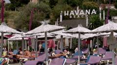 Havana Beach bar & restaurant Stock Footage