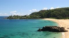 Waimea bay, north shore, oahu, hawaii. Stock Footage