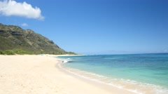 Mokulea beach, kaena point, north shore, oahu, hawaii. Stock Footage