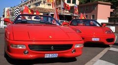 Luxury car ferrari in monaco Kuvituskuvat