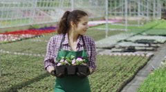Portrait of cheerful worker in the agriculture industry - stock footage