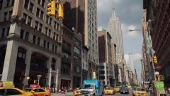 New York City manhattan street Empire State Building - stock footage