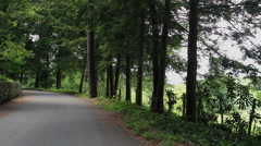 country paved mountain road - stock footage
