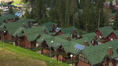 Hotel in the ukrainian mountain resort of Bukovel Stock Footage