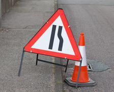 roadwork sign - stock photo