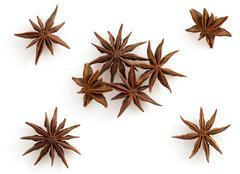 Anise star on white Stock Photos