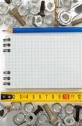 metal construction hardware tool - stock photo