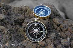 analogic compass - stock photo