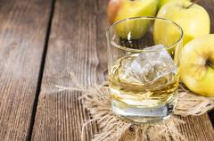 apple liqueur - stock photo