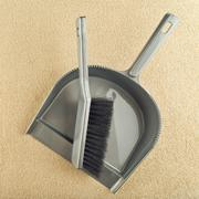 dustpan and brush floor sweeper - stock photo