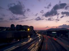 Time Lapse Istanbul Traffic Seyrantepe Stock Footage