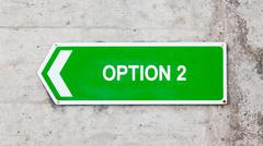 Stock Photo of green sign - option 2