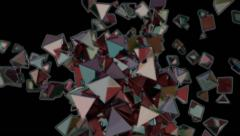 abstract geometric background of colorful flashing diamonds - seamless (FULL HD) - stock footage