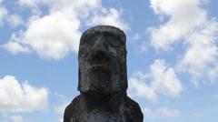 Moai Easter Island, Rapa Nui Stock Footage