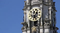 Cardiff City Hall clock tower Stock Footage