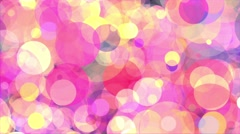Circles pink yellow abstract background loop - stock footage