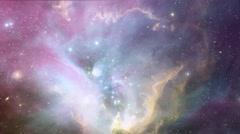 Nebula Flight Space Stars Galaxy Universe HD Stock Footage