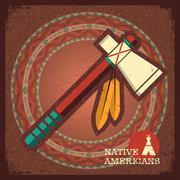 Indian american tomahawk Stock Illustration