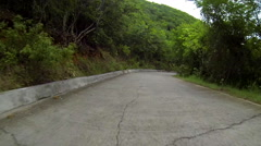 Driving on a small road in the virgin islands Stock Footage