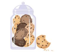 cookie crunch - stock illustration