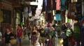 Views of people walking at Monastiraki Acropolis alleys in Athens Footage