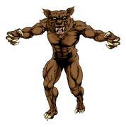 Werewolf Stock Illustration