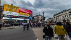 4k Ultra HD  hyper lapse of piccadilly circus - stock footage