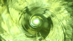 Green Liquid Vortex - stock footage