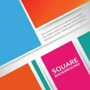 Large colored boxes with blank space for text - stock illustration