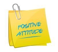 positive attitude memo illustration design - stock illustration