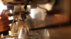 Making expresso coffee Stock Footage