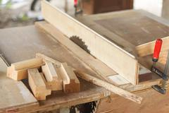 Carpenter workspace Stock Photos