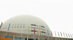 Stockholm Globe arena 2 Stock Footage