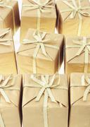 Background of gift boxes Stock Photos