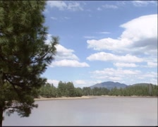 Pan Kaibab Lake, located in Kaibab National Forest on the Colorado Plateau Stock Footage