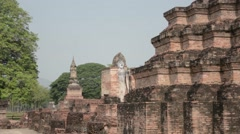 Sukhothai walking Buddha Stock Footage