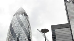 The Gherkin Building London UK Slow Motion People Stock Footage