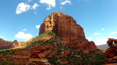 Court House Butte With Cloud Shadows- Sedona Arizona Stock Footage