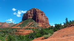 Court House Butte- Bell Rock Hiking Area- Sedona AZ- Zoom Stock Footage