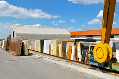 Marble storehouse Stock Photos