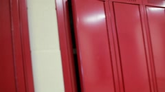 Video POV of a student being shoved into a locker (short) Stock Footage