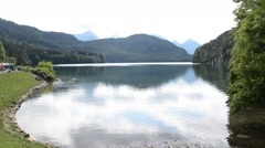 Lake alpes in Schwangau - bayern (germany) Stock Footage