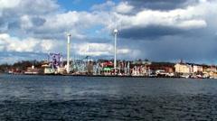 Boat ride to Gröna Lund Stockholm Stock Footage
