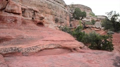 Broken arch in arches national park moab utah Stock Footage