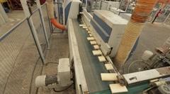 Wood doors industry Stock Footage
