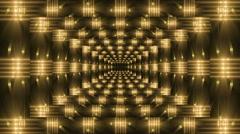 Kaleidoscope gold light, loop Stock Footage