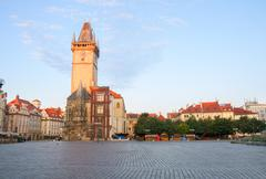 Old town square with  city hall of prague Kuvituskuvat