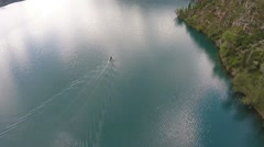 A boat from altitude Stock Footage