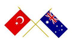 Stock Illustration of flags, australia and turkey