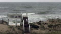 Outer Banks Ocean Waves Timelapse Stock Footage